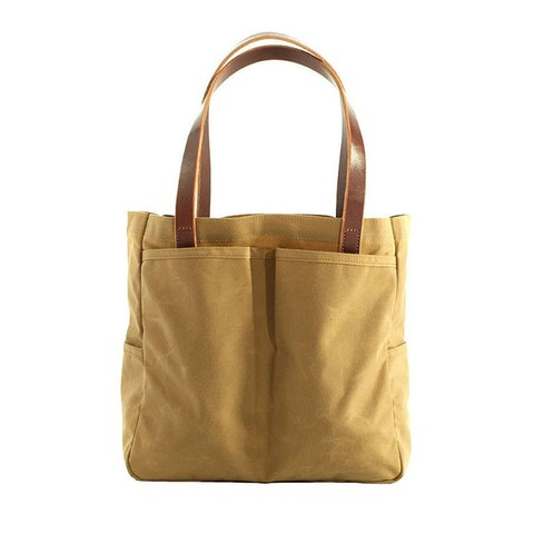 Utility Tote: Safari Tan Wax Canvas