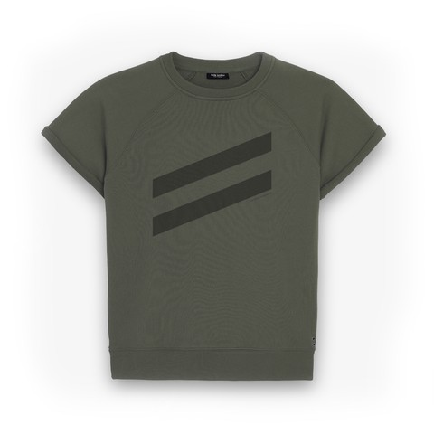 Short-Sleeved Sweatshirt DOUBLE LINES