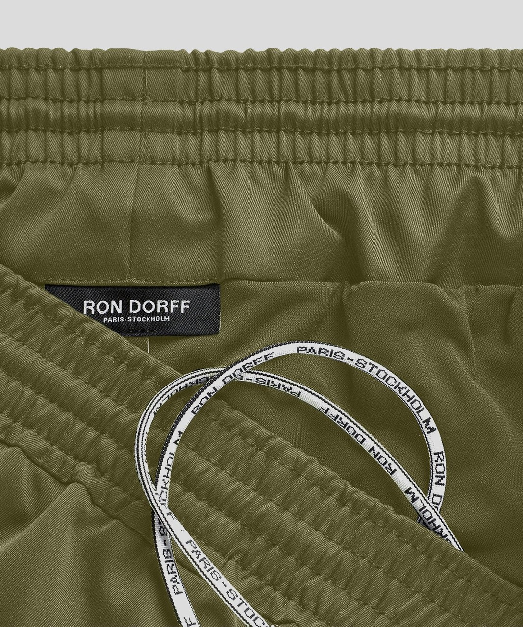 Ron Dorff Exerciser Shorts Eyelet Edition in Army